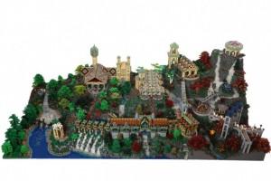 Alice Finch og David Frank har bygget den 3*1,5 m store Kløvedal