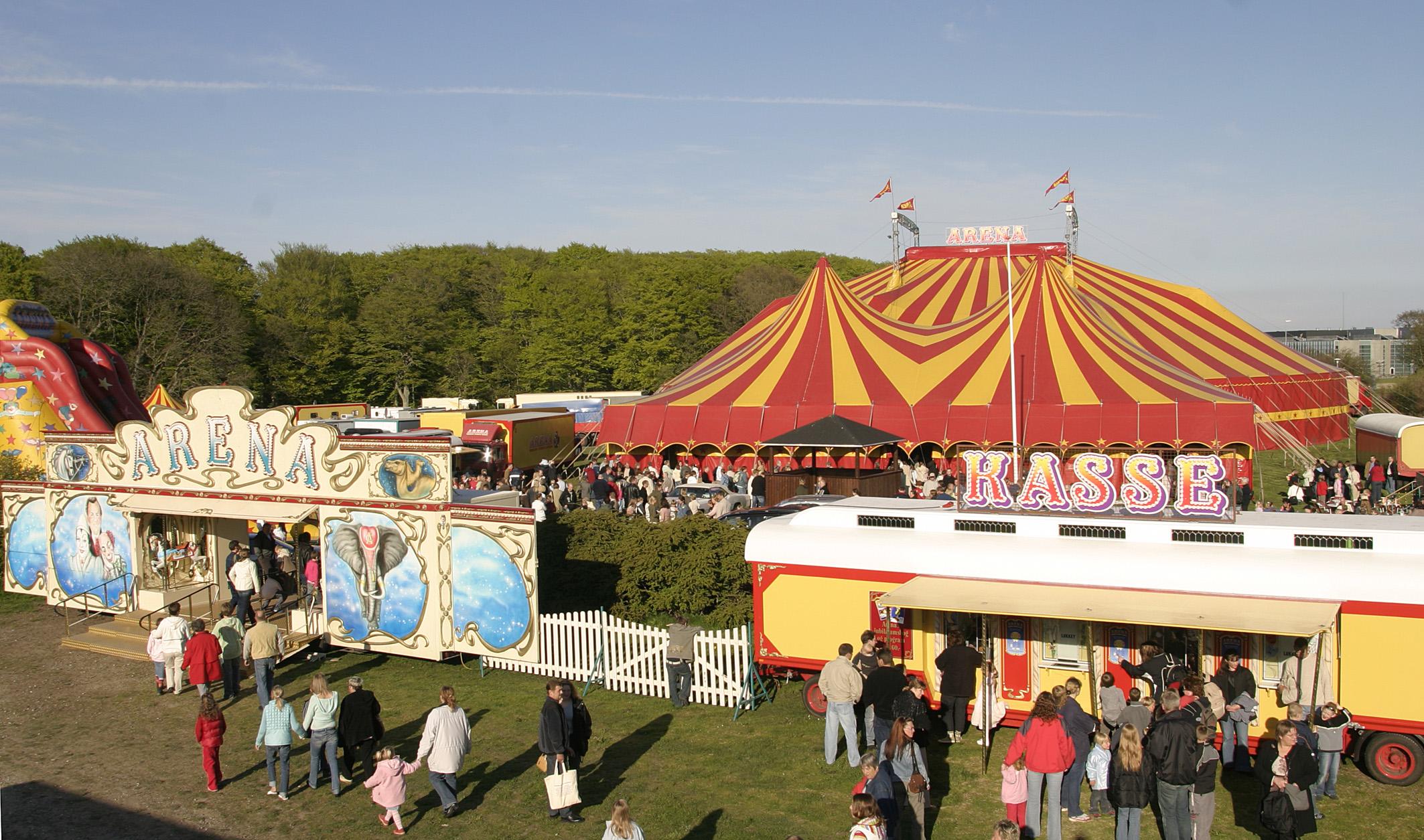 Danmarks største cirkus-underskud, Arena
