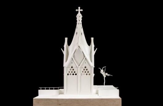 Gaudis kapel, som bliver en del af et samlet kulturcenter med kunstskoler, park of cafeer.