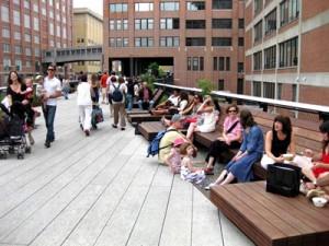New Yorks berømmede High Line - med landskabsarkitekten Lisa Witkin som chefdesigner.