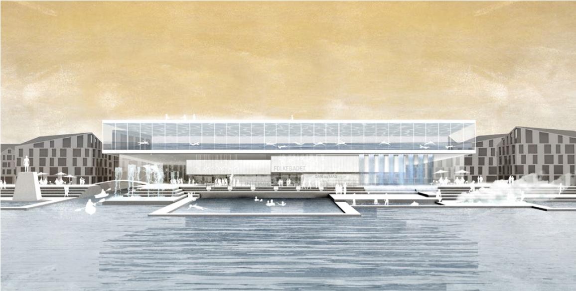 Folkebadet, et vinderforslag fra Jaja Arkitekter.