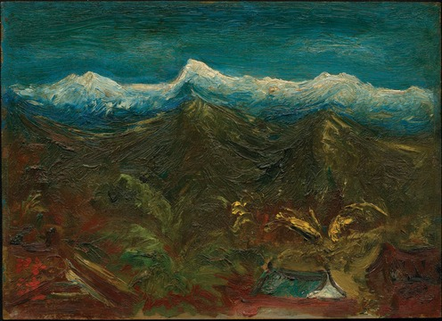 Chen Cheng-po's Accumulated Snow on Jade Mountain (1947) var blandt værkerne i den mest sete udstilling i 2015.